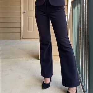 The Limited Drew Fit Navy Bootlegged Dress Pants
